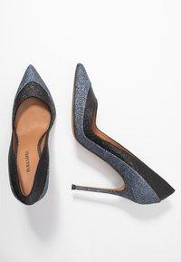 Pura Lopez - Escarpins à talons hauts - glitter antracite/glitter black - 3