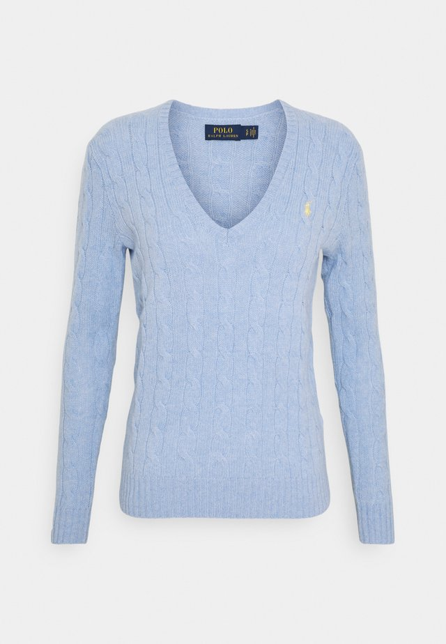 Strickpullover - light blue heather