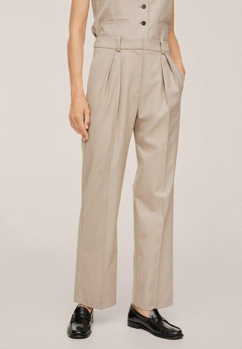 Mango - PLEATED - Trousers - beige