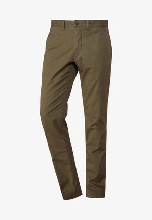 SLIM FIT BEDFORD PANT - Kangashousut - expedition olive