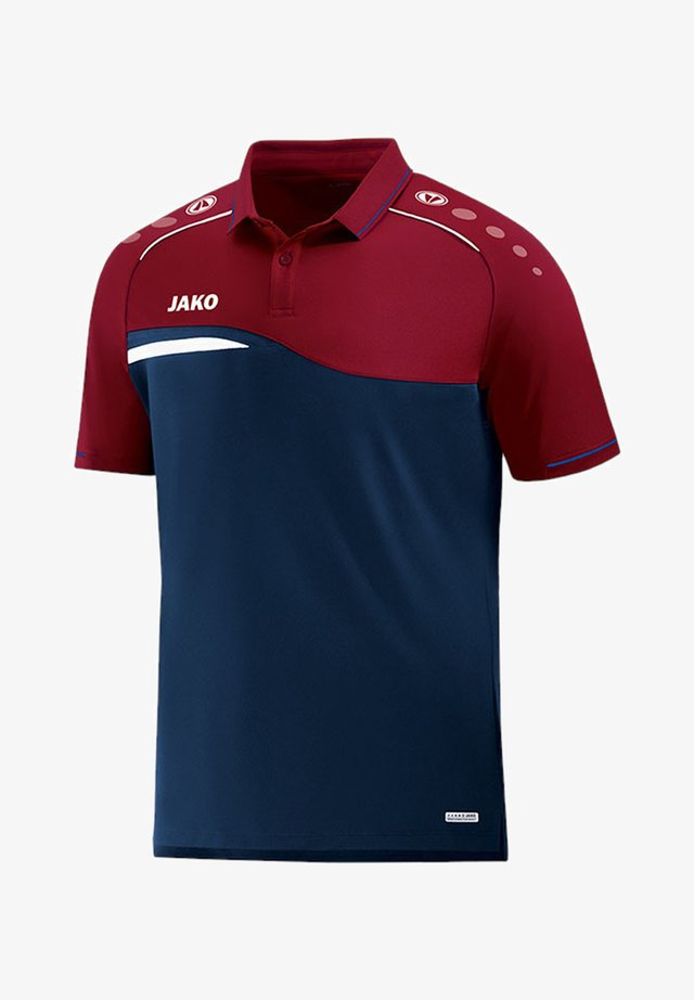 Poloshirt - blaurot