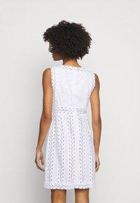 MICHAEL Michael Kors - STRIPED ROPE MINI DRESS - Day dress - white - 2