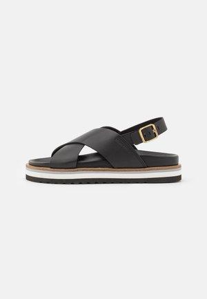 ANDREA - Platform sandals - black