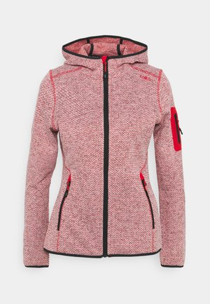 WOMAN FIX HOOD JACKET - Fleece jacket - grenadine/bianco