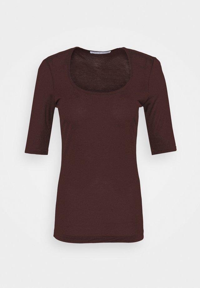 PAOLINA - T-shirt basique - noon plum