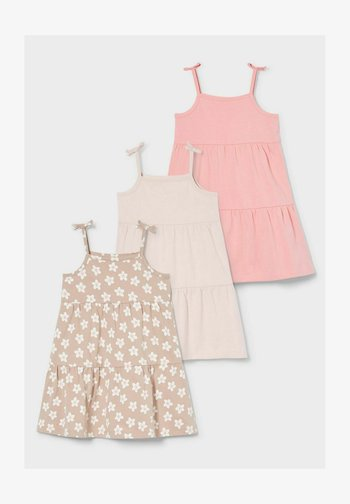 3 PACK - Day dress - coral