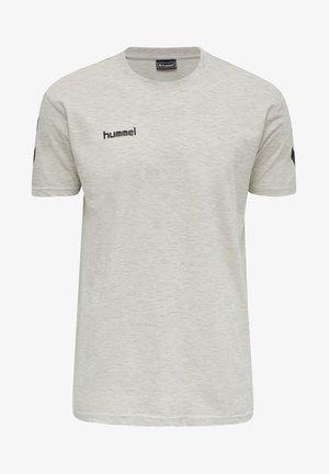 HMLGO - Print T-shirt - egret melange