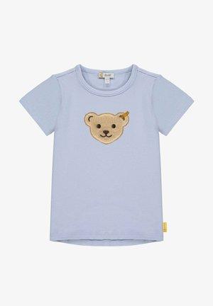T-shirt print - brunnera blue