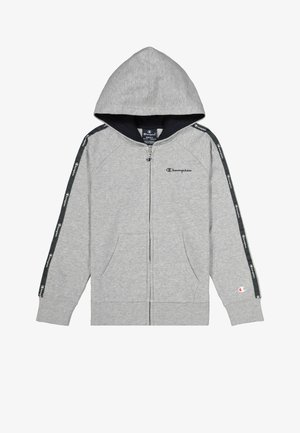 Zip-up hoodie - gray melange