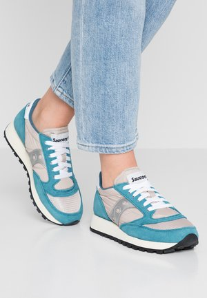 JAZZ VINTAGE - Neutral running shoes - blue/tan/silver