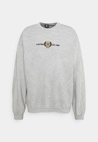 Kaotiko - CREW WASHED BEETLE UNSIEX - Sweatshirt - grey mel - 0