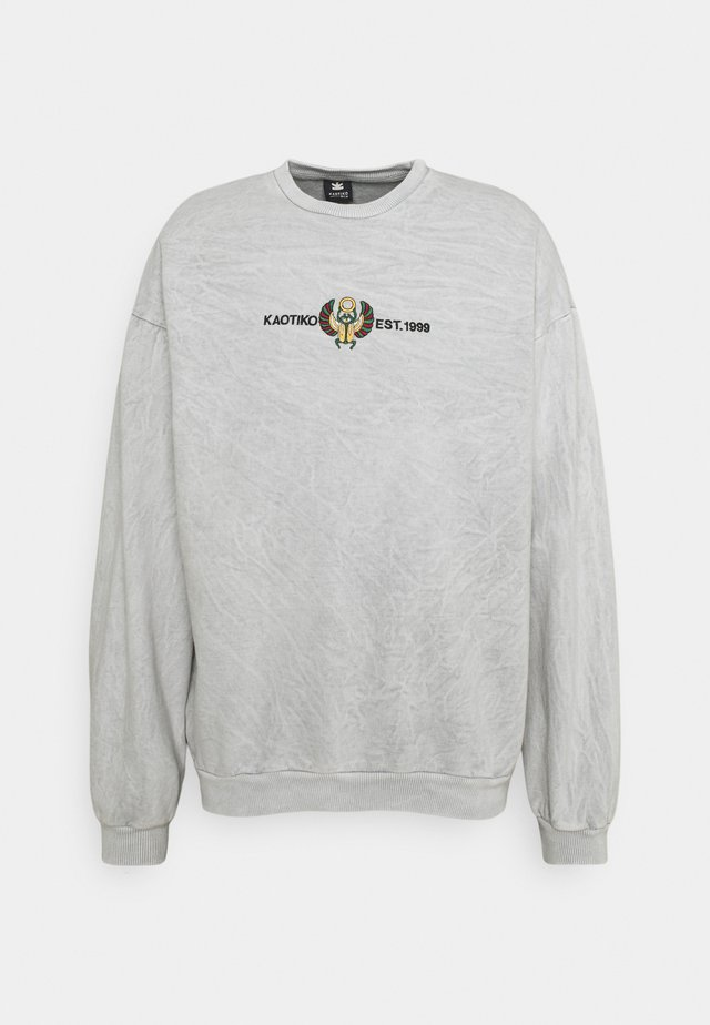 CREW WASHED BEETLE UNSIEX - Sweatshirt - grey mel