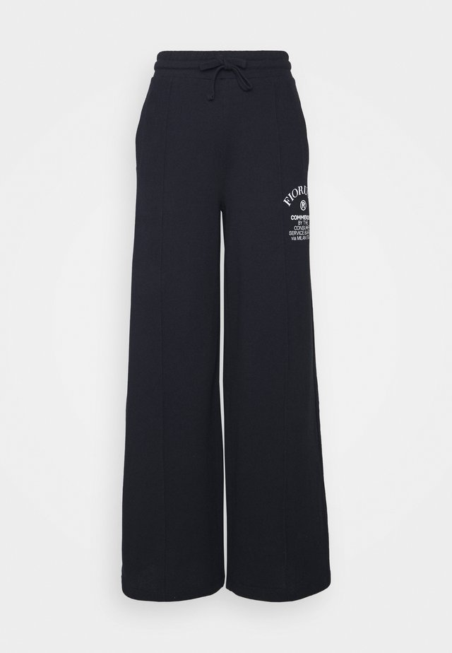 COMMENDED WIDE LEGGED TRACKPANTS - Pantaloni sportivi - blue