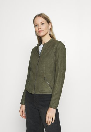 SPARI - Faux leather jacket - olive night