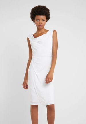 SHEATH WITH RUCHING - Shift dress - ivory