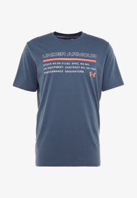 Under Armour - ISSUED - T-shirt con stampa - wire/beta red - 4