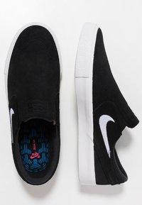 Nike SB - ZOOM JANOSKI - Instappers - black/white - 1