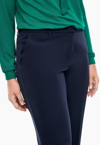 Triangle - REGULAR FIT: STRAIGHT LEG-HOSE - Trousers - navy - 5