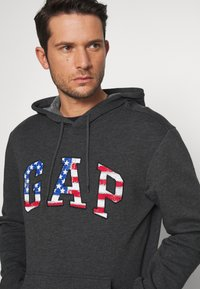 GAP - ARCH FLAG - Hoodie - charcoal heather - 4