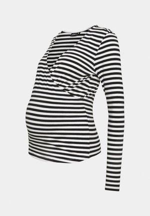 OLMJOY LIFE WRAP - Long sleeved top - black