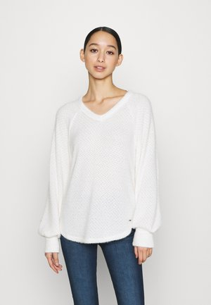 COZY EYELASH EASY - Sweter - white