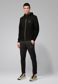 BOSS - SAGGY CIRCLE - Zip-up hoodie - anthracite - 1