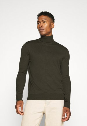 JJEEMIL ROLL NECK - Stickad tröja - olive night melange
