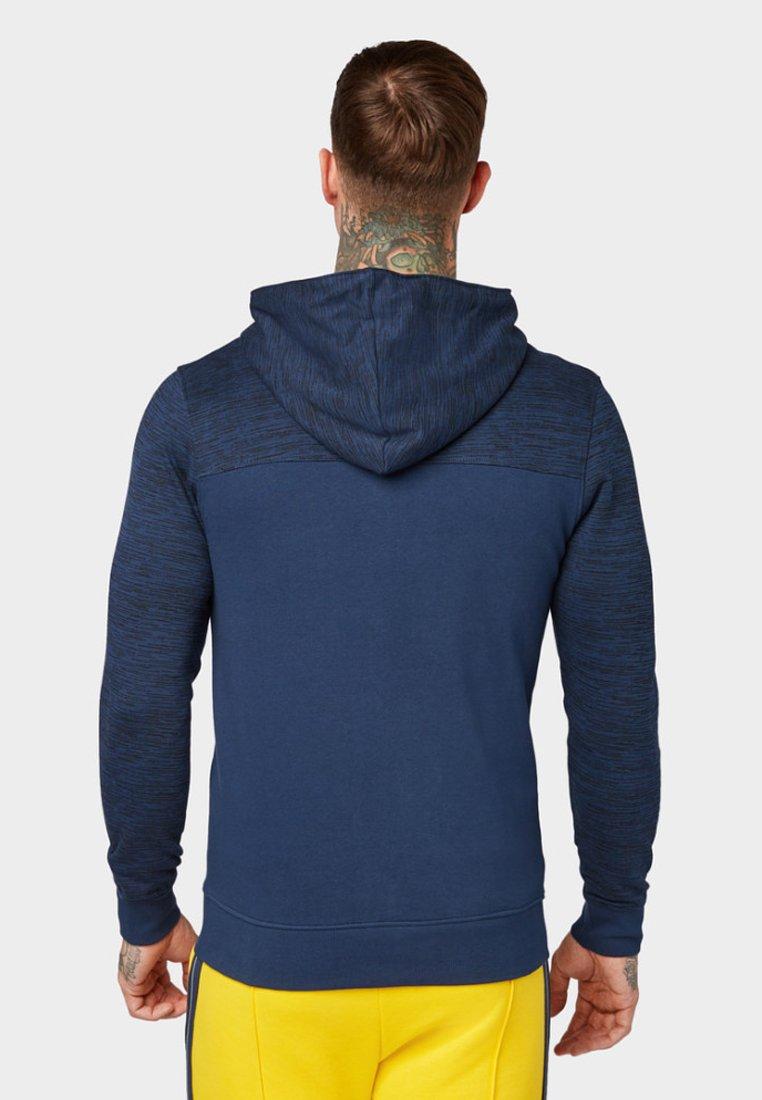TOM TAILOR DENIM MIT KAPUZE - Zip-up hoodie - agate stone blue