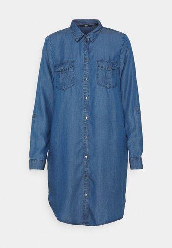 VMSILLA SHORT DRESS MIX - Denim dress - medium blue denim