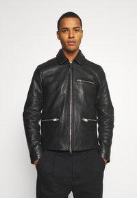 AllSaints - CLAY JACKET - Leather jacket - black - 0