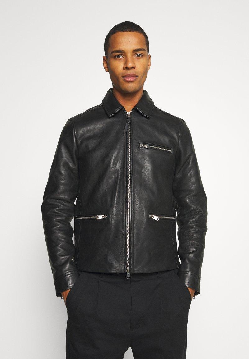 AllSaints - CLAY JACKET - Leather jacket - black