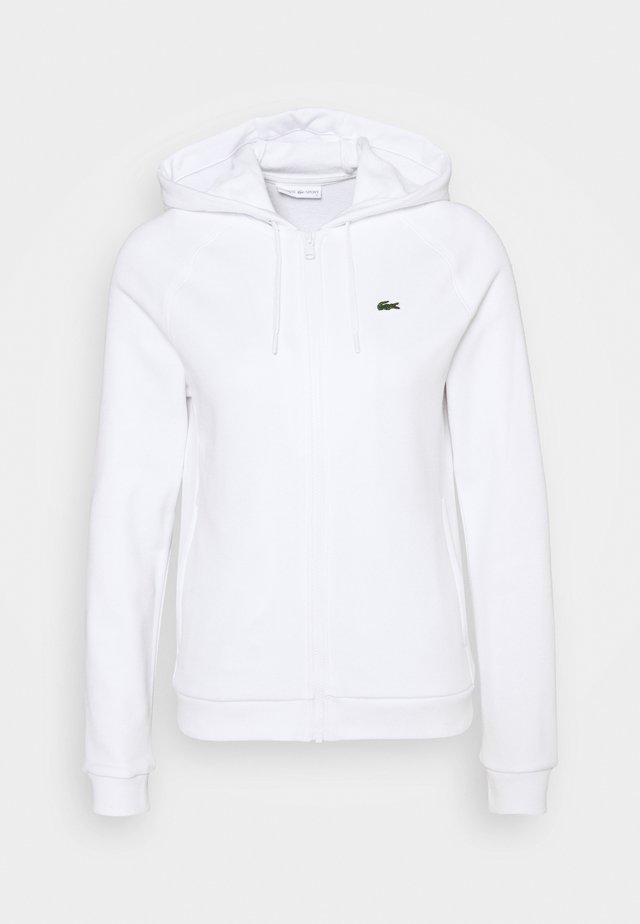 veste en sweat zippée - white