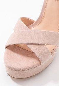 Even&Odd Wide Fit - LEATHER - Sandaler med høye hæler - nude - 2