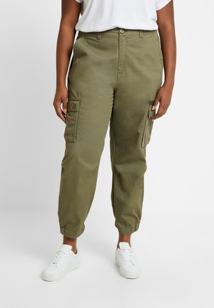 CARMALENA CARGO PANT - Trousers - martini olive