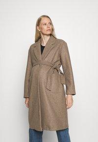 ONLY - OLMTRILLION LONG BELT COATIGAN  - Classic coat - brown - 0