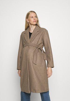 OLMTRILLION LONG BELT COATIGAN  - Klasyczny płaszcz - brown