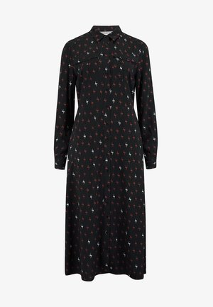 SHIRT SERENA AUTUMN STORM - Shirt dress - black
