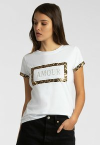Apart - T-shirt imprimé - weiß - 0