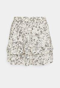 JDY - A-line skirt - tapioca/black - 3