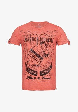 TRACHTEN RAUSCHJODLER  - Print T-shirt - rot
