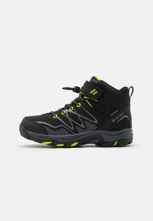 BLACKOUT MID WP JR - Scarpa da hiking - black/lime