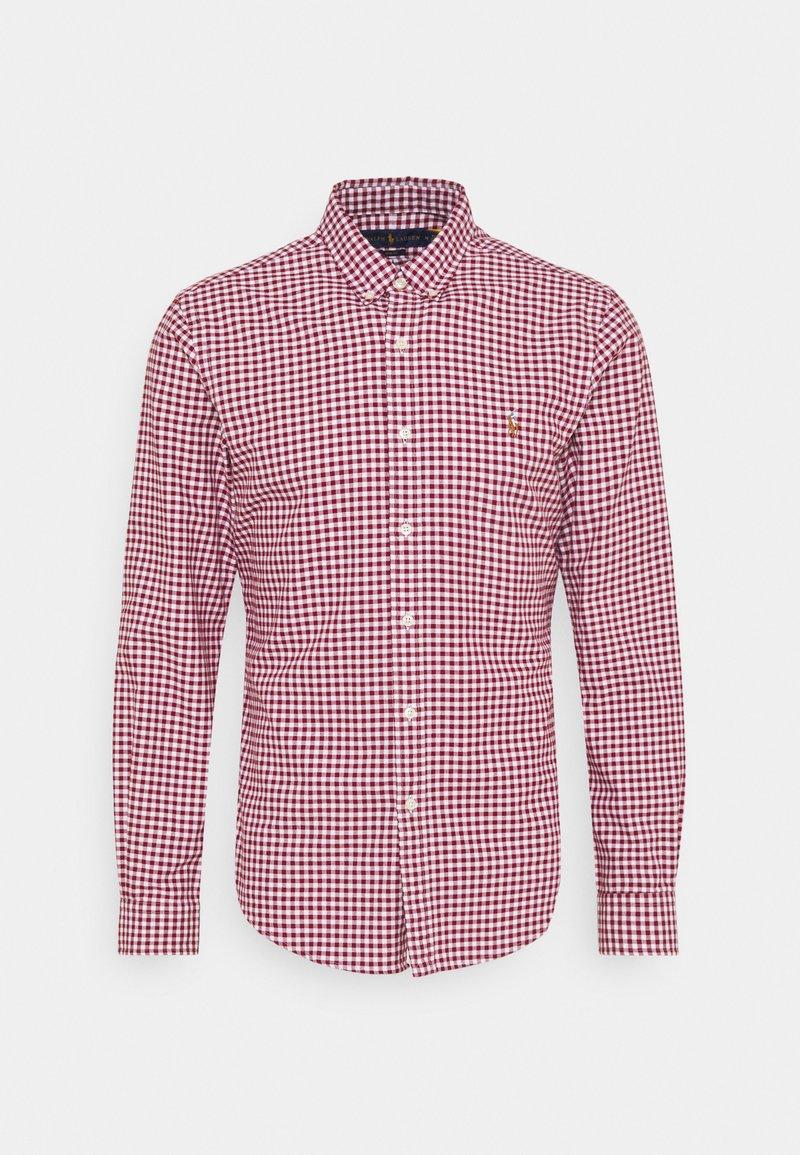 Polo Ralph Lauren - LONG SLEEVE SPORT - Shirt - wine/white