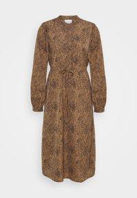 Vila - VIKOLINA TIE STRING DRESS - Day dress - tobacco brown - 5