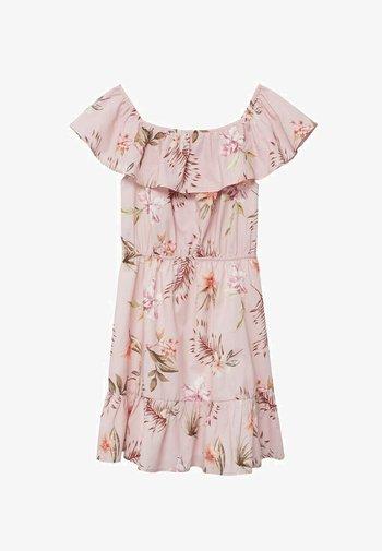 Korte jurk - rose clair