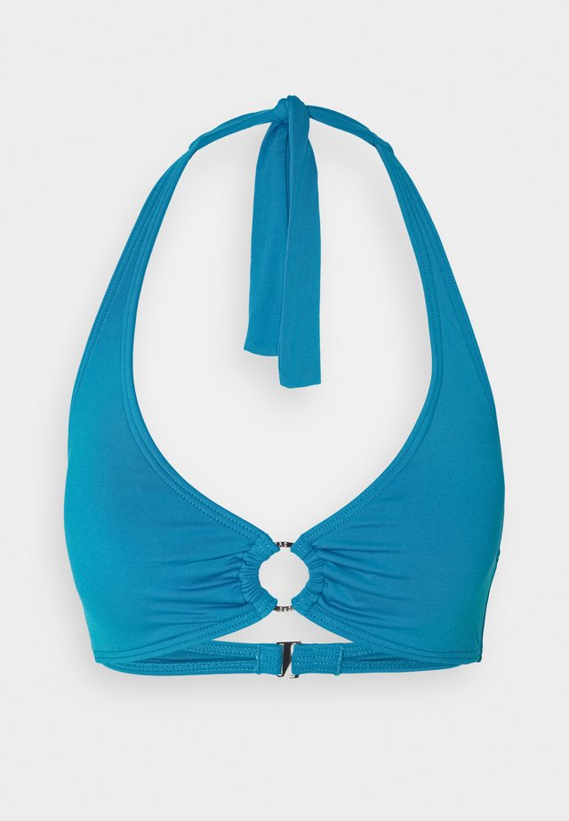 ICONIC SOLIDS HALTER - Bikinitop - lux teal