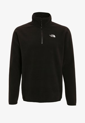 MENS GLACIER 1/4 ZIP - Felpa in pile - black