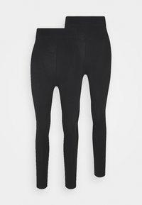 Even&Odd Tall - 2 pack HIGH WAIST legging - Leggings - Trousers - black - 0
