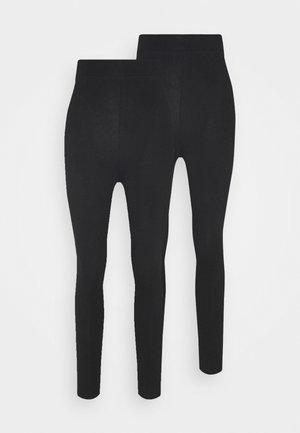 2 pack HIGH WAIST legging - Leggings - Hosen - black