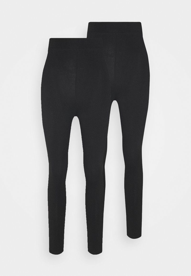 Even&Odd Tall - 2 pack HIGH WAIST legging - Leggings - Trousers - black