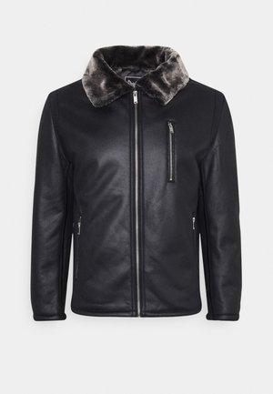SHADOW - Faux leather jacket - black